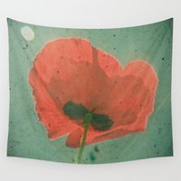 poppy Wall Tapestries featuring Poppy by Cassia Beck