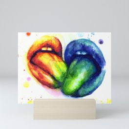 Taste my color Mini Art Print