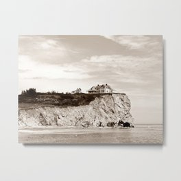 Big House on the Cliff Metal Print