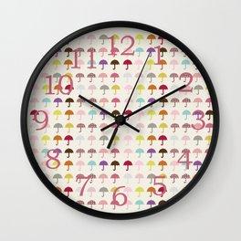 Umbrella Fashion Show Wall Clock