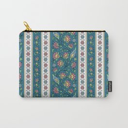 Floral on Teal Carry-All Pouch