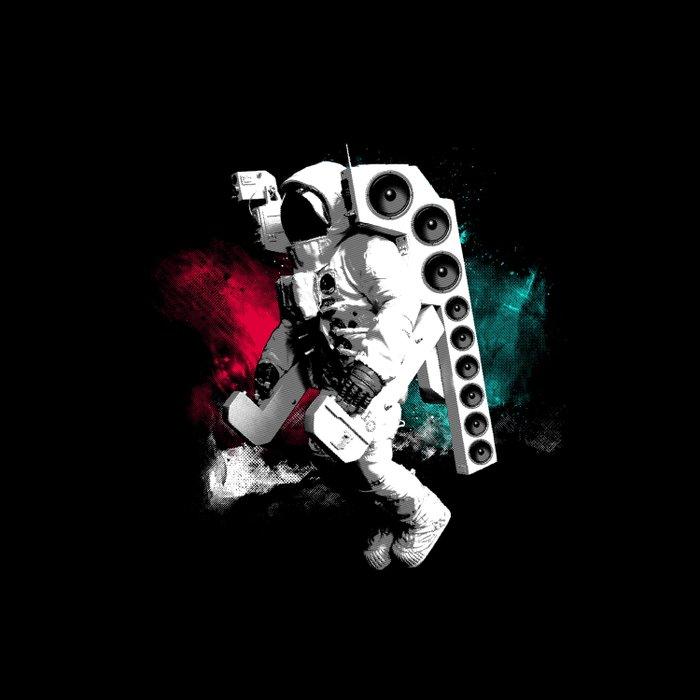 Basstronaut Duvet Cover