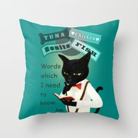 study Throw Pillows featuring Study by BATKEI