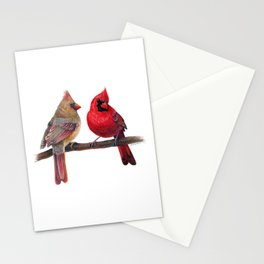 Northern Cardinal Pair Stationery Cards