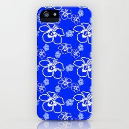 Blue Hibiscus Hawaiian iPhone Case