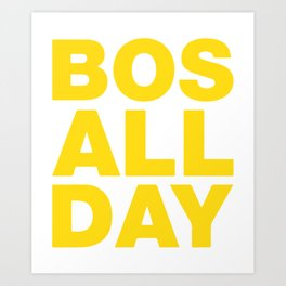 BOS All Day Bean Town Represent Printed Tee Mens Ladies Womens Youth Kids Funny Boston Strong Hockey Art Print
