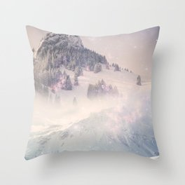The World Was Ours - Dream snow stars Throw Pillow