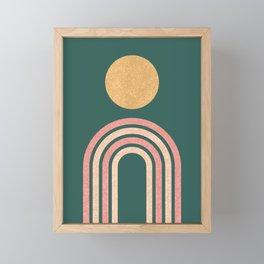 Mid century modern - green Framed Mini Art Print