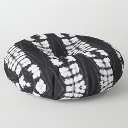 Shibori Spine Tiki BW Floor Pillow