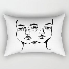 Tumblr 3 eyed twin girl Rectangular Pillow