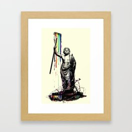 God of Graffiti Framed Art Print