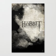 The Hobbit The Desolation Of Smaug Watercolor Book Cover Canvas Print