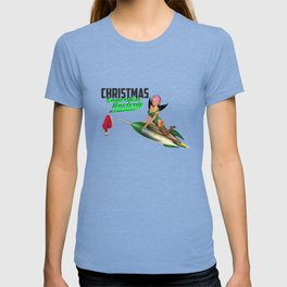 Christmas Pin-Up - Search & Destroy Rocket T-shirt