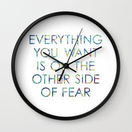 Everything You Want Wall Clock