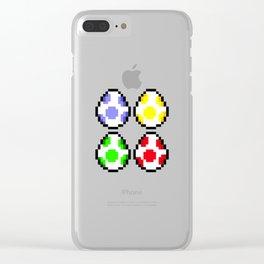 Minimalist Yoshi Eggs Clear iPhone Case