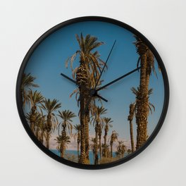 Palm trees in the Negev Desert, Israel Wall Clock