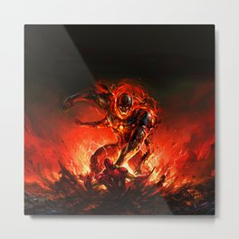 driven by the strength of the enemy Metal Print