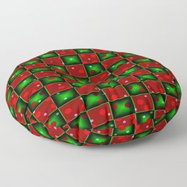 Christmas checkerd design with a twist Floor Pillow