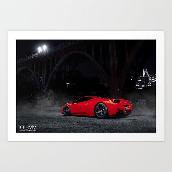 Ferrari F458 Italia Art Print
