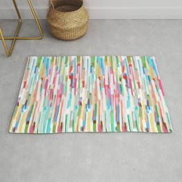 vertical brush strokes  Rug