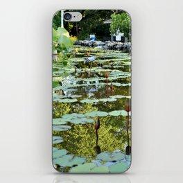 Lily Pad Circles iPhone Skin
