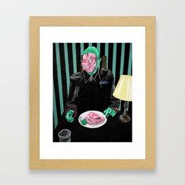 Dinner at Mussolini's. 2016. Framed Art Print