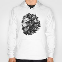 lion Hoodies featuring Lion by BIOWORKZ