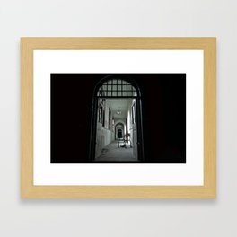 Where my darkness goes Framed Art Print