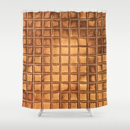Toaster Waffle Pop Art: Extra Crispy, No Syrup Shower Curtain