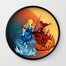 Dancers of Fire and Ice Wall Clock