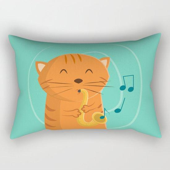 Jazz Cat Rectangular Pillow