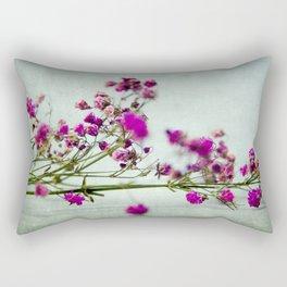 pink florets branch Rectangular Pillow