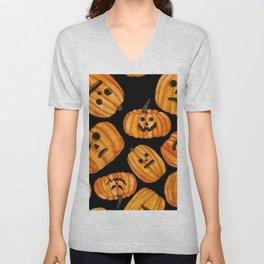 Creepy Pumpkins Unisex V-Neck