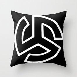 Triskelion Martial Heathen symbols Throw Pillow