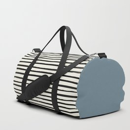 Dusty Blue x Stripes Duffle Bag