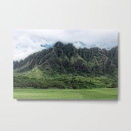Kahaluu Mountains Metal Print