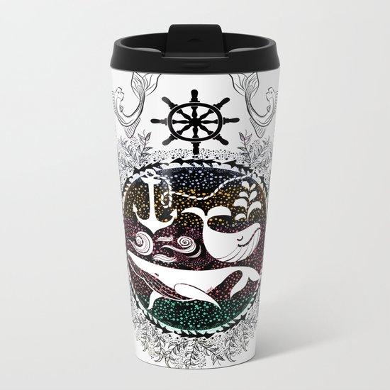 Ocean Galaxy Metal Travel Mug