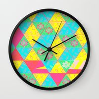transparent Wall Clocks featuring Transparent Triangle by Lillian Cassidy