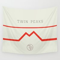 twin peaks Wall Tapestries featuring Twin Peaks High School by avoid peril