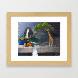 Still Life With Kumquats and Giraffe Framed Art Print
