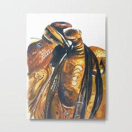 Two Saddles: Metal Print
