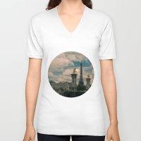 eiffel V-neck T-shirts featuring Eiffel by Esteban Calderón