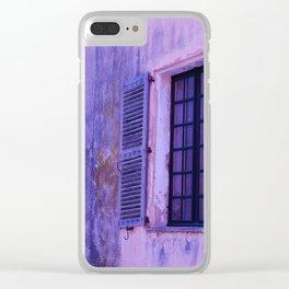 Ancient purple village Clear iPhone Case