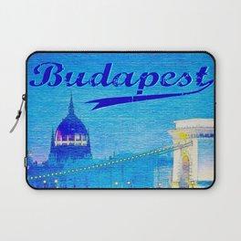 Budapest, light blue Laptop Sleeve