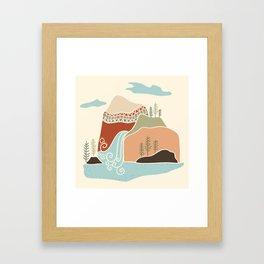 Southwest Mountain Framed Art Print
