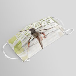 Grasshopper in lace curtain Face Mask