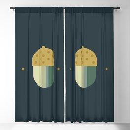 october midnight acorn Blackout Curtain