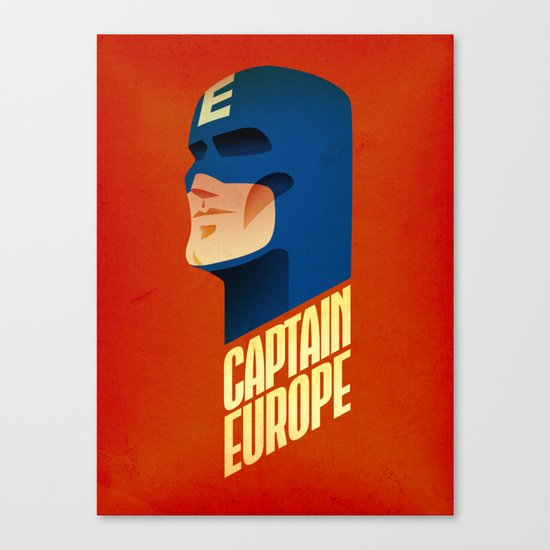 Captain Europe Canvas Print