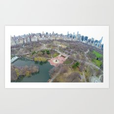 Late Winter Over Central Park Art Print