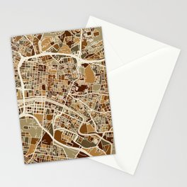 Glasgow Street Map Stationery Cards